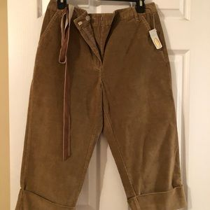 Brown corduroy crops